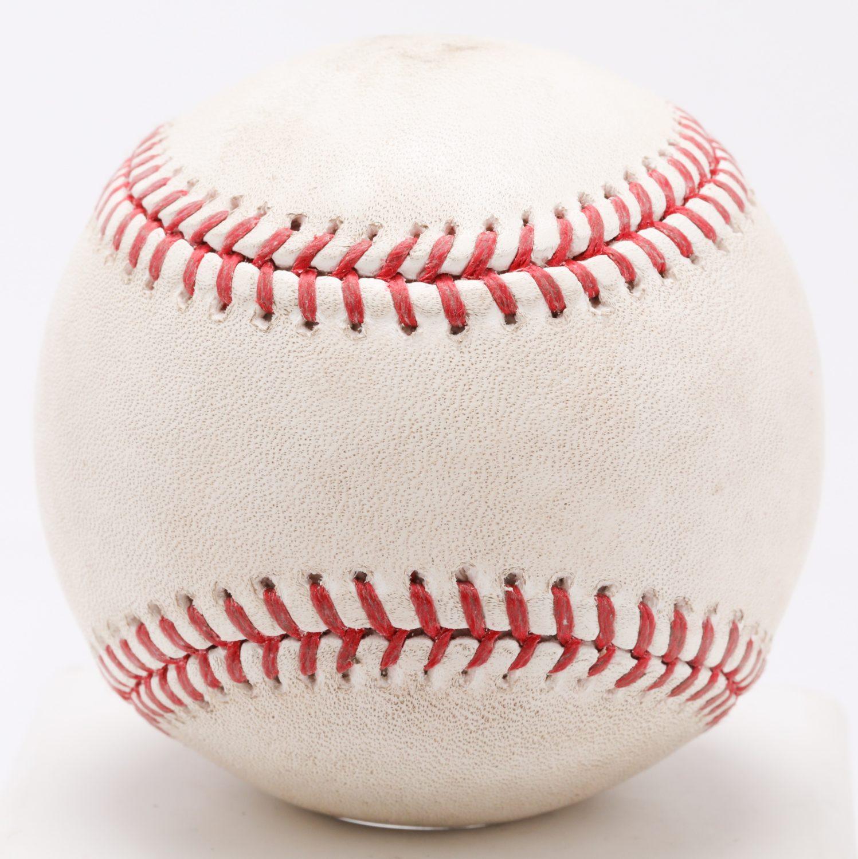 Game-Used Ball from Bartolo Colon's 220th Win