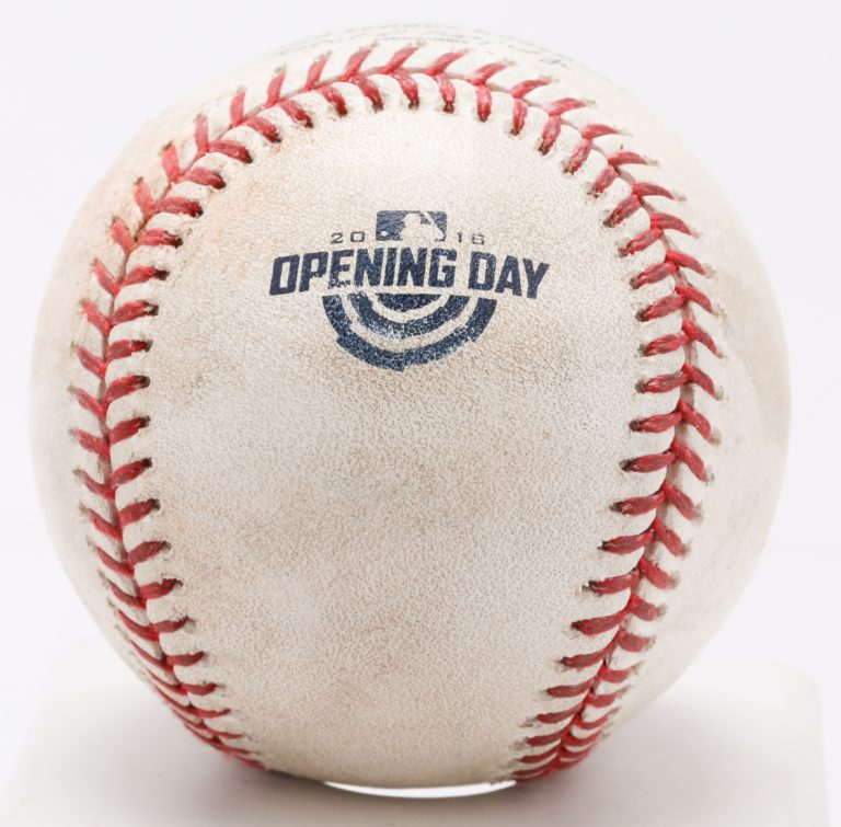 Game-Used Ball from 2018 Mets Opening Day