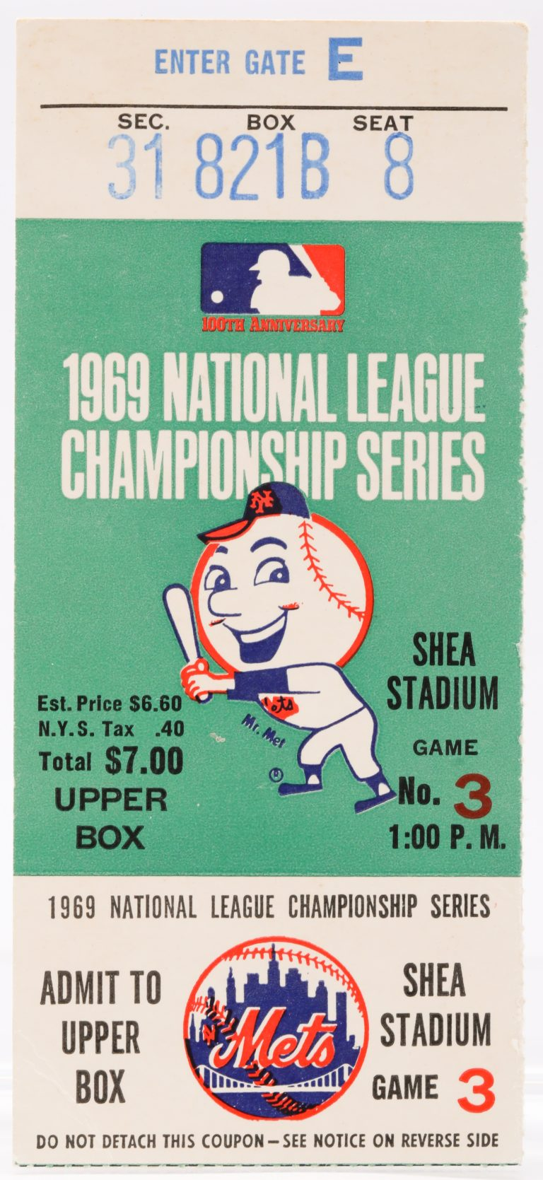 Ticket from First Mets Pennant in Franchise History