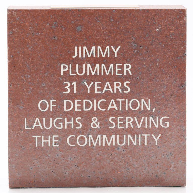 Brick Honors Jimmy Plummer's 31 Years