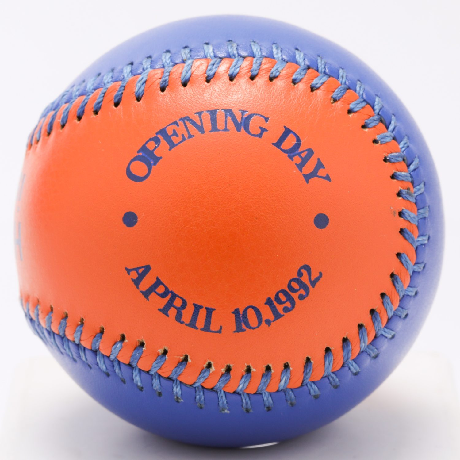 Mets-Colored 1992 Opening Day Baseball