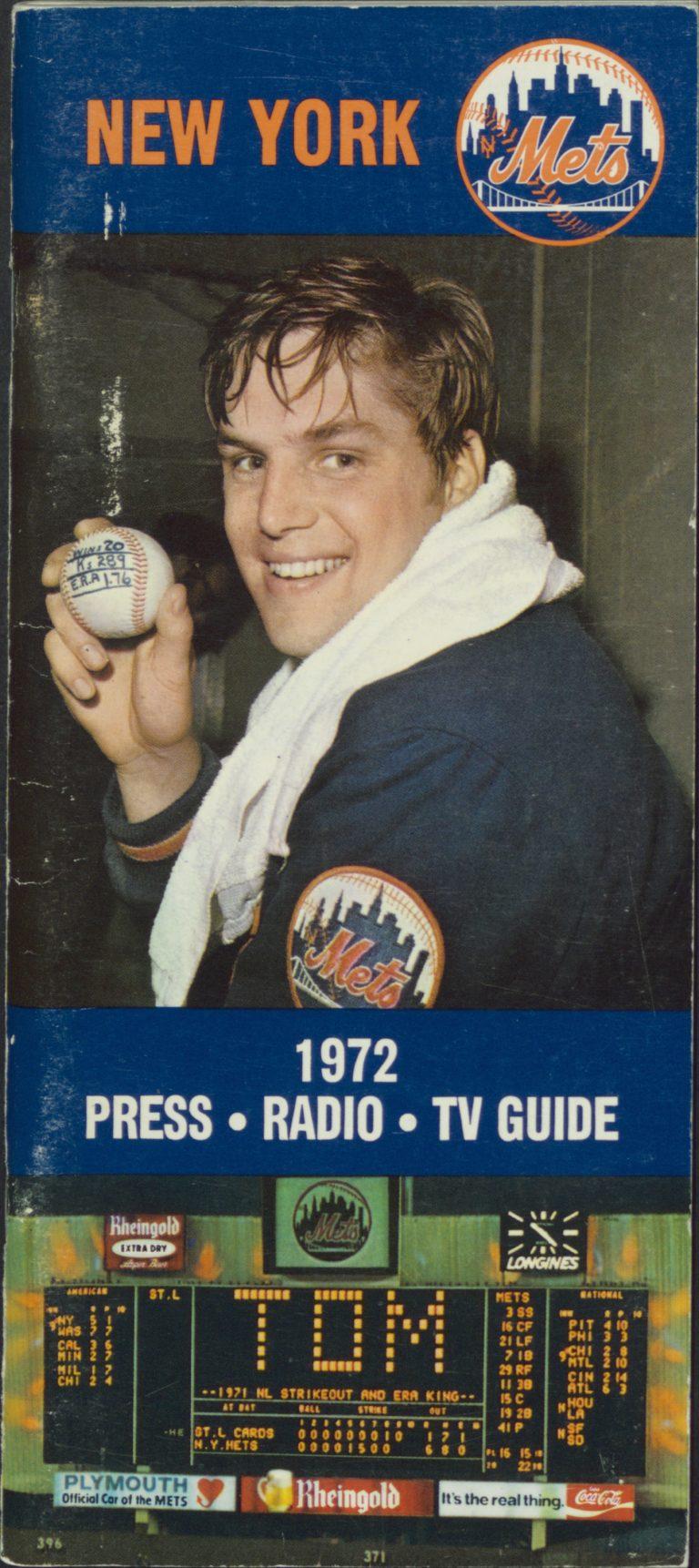 1972 Press-Radio-TV Guide Featuring Tom Seaver