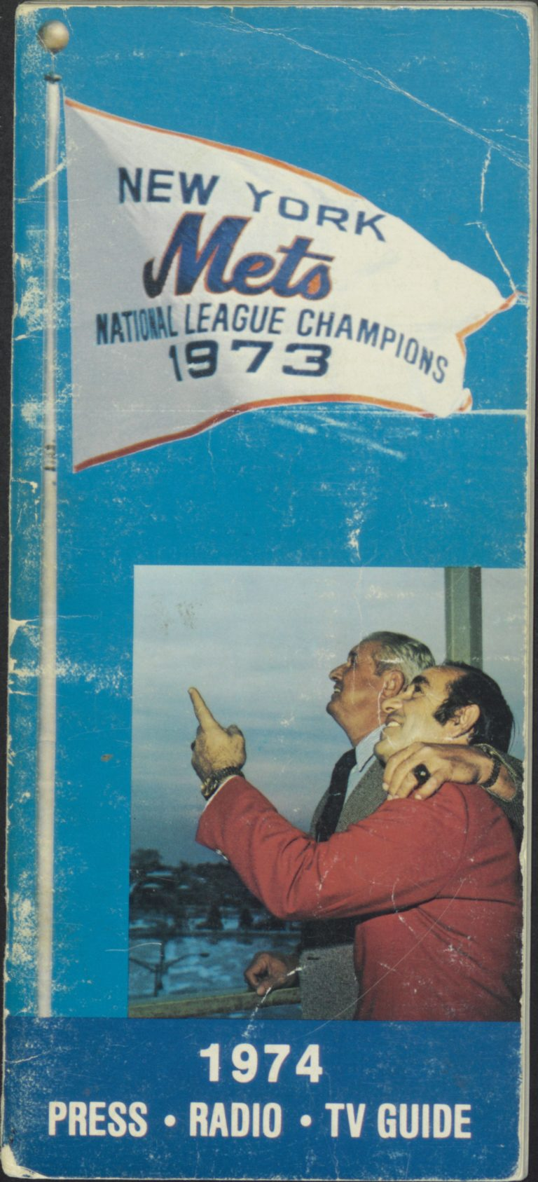 1974 Mets Press-Radio-TV Guide