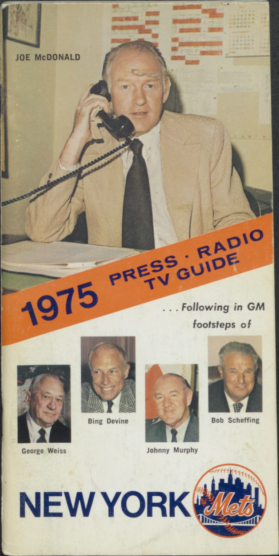 1975 Press-Radio-TV Guide Cover Featuring Johnny McDonald