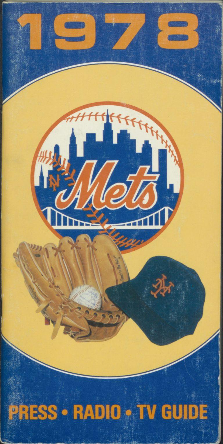 1978 New York Mets Press-Radio-TV Guide