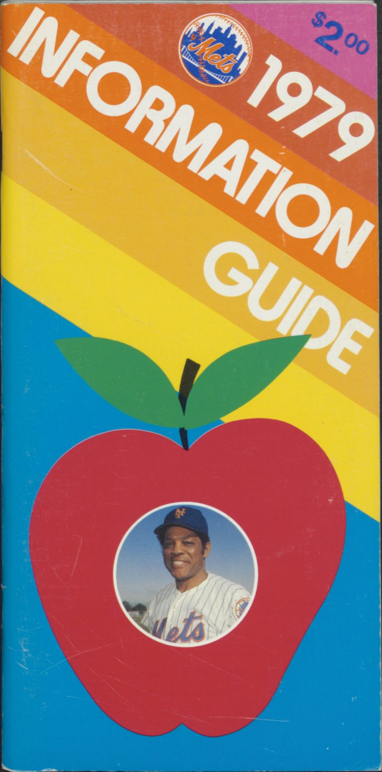 1979 Mets Information Guide with Willie Mays