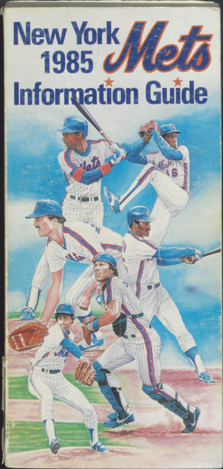 1985 Mets Information Guide: Rising Stars