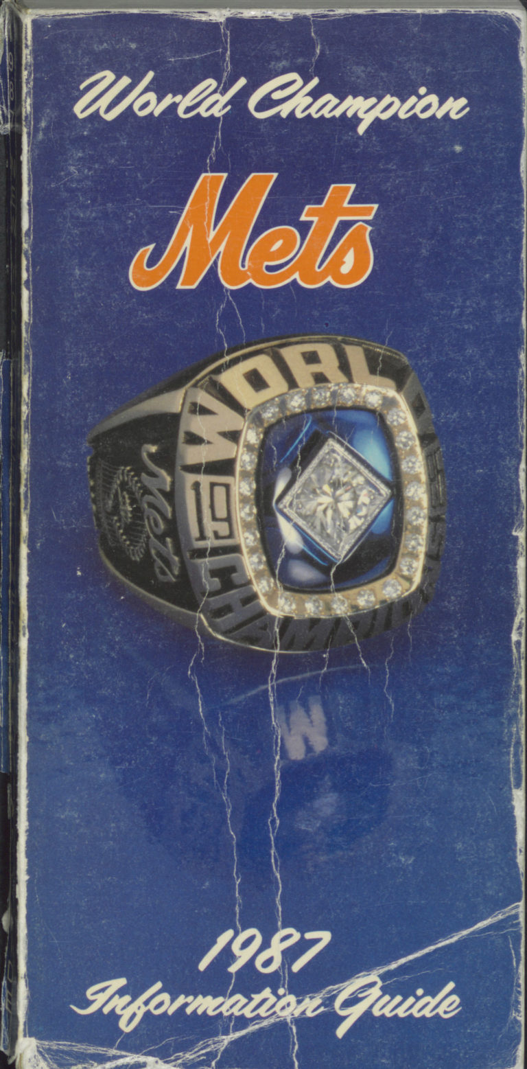 1987 Mets Info Guide with World Series Ring