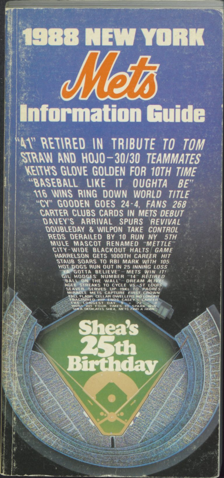 1988 Information Guide: Shea's 25th Birthday