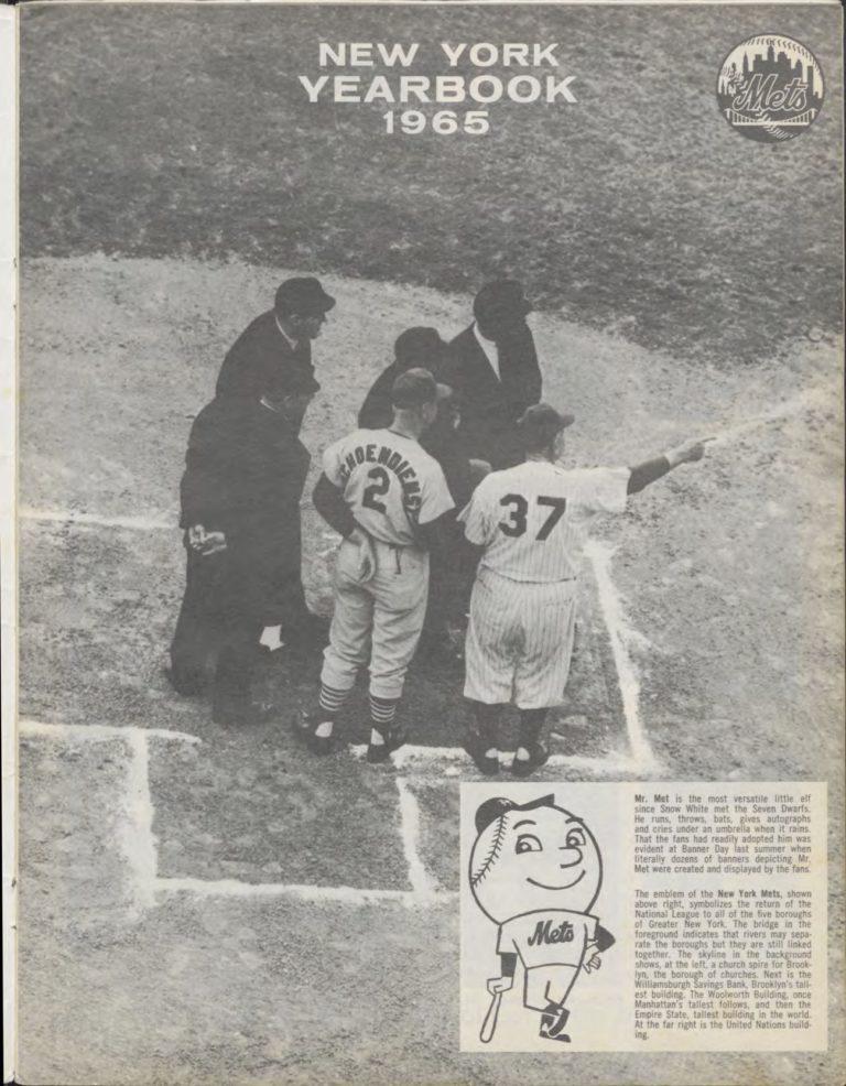 1965 Mets Yearbook Featuring Mr. Met (Original)