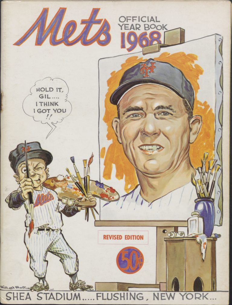 Mets 1968 Yearbook: Gil Hodges Named Manager