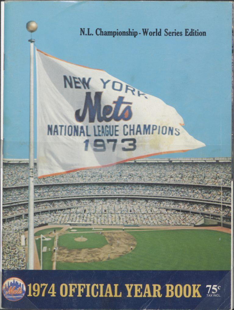 1974 New York Mets Yearbook: NLCS Pennant