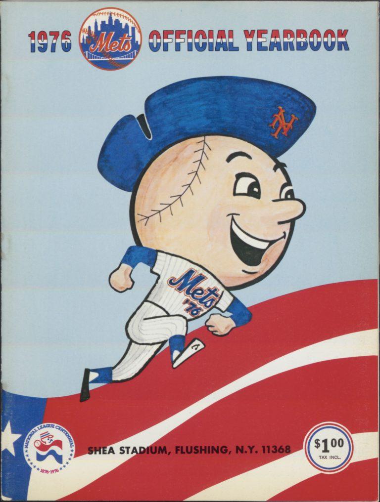 1976 Mets Yearbook with Mr. Met in Bicentennial Hat