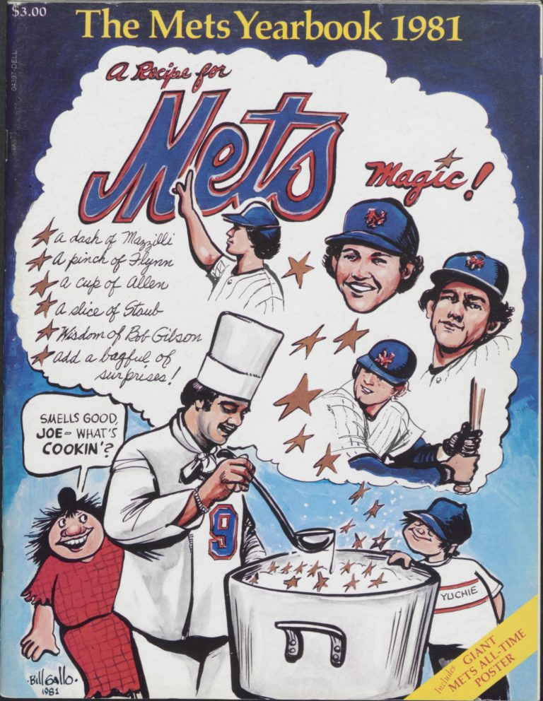 1981 Mets Yearbook Featuring Recipe for Mets Magic