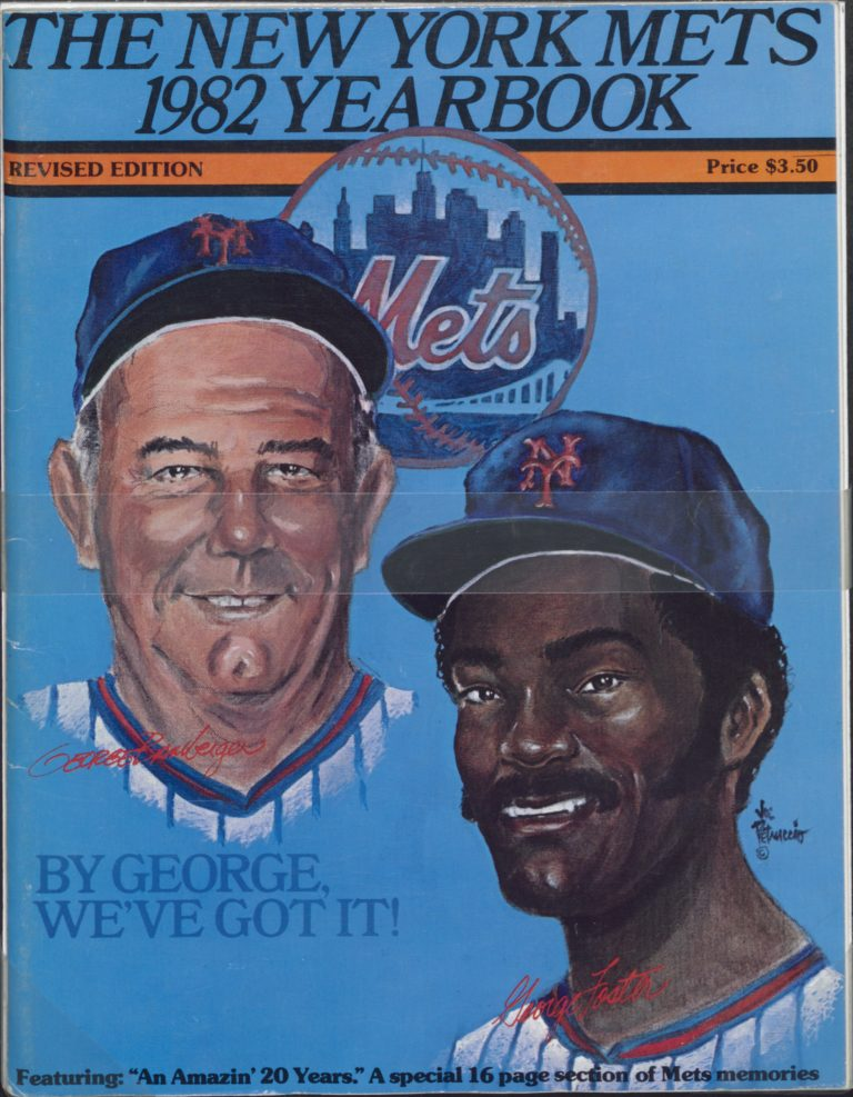 1982 Mets Yearbook with George Bamberger and George Foster on Cover