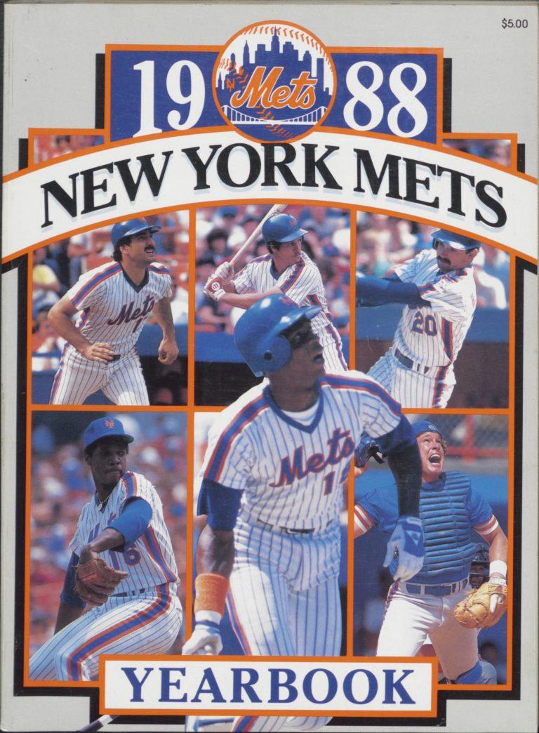 New York Mets 1988 Yearbook: 100-Win Season