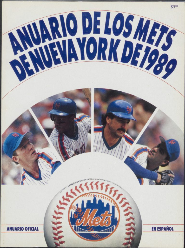 Cover of Spanish-Language 1989 Mets Yearbook