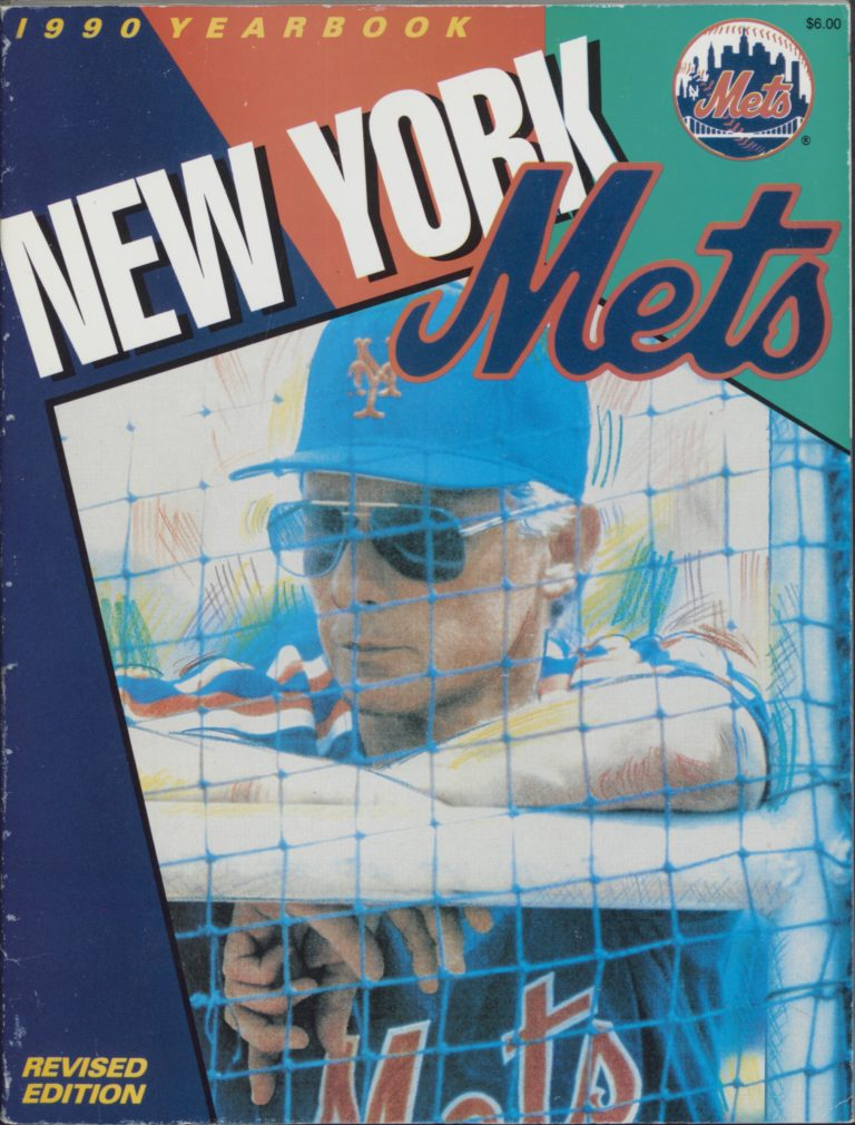 1990 Mets Yearbook Cover with Bud Harrelson