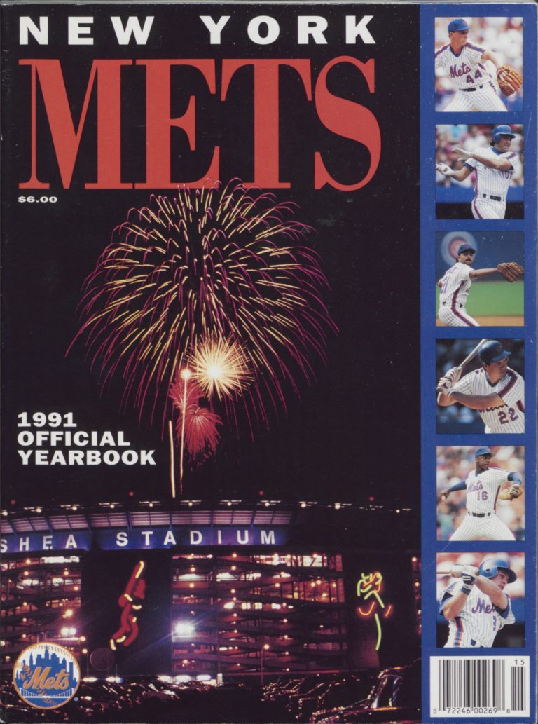 1991 New York Mets Yearbook: Fireworks at Shea