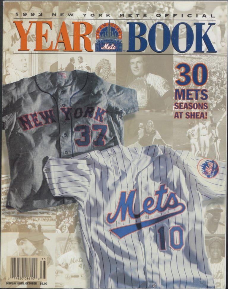 1993 Mets Yearbook: 30 Seasons at Shea