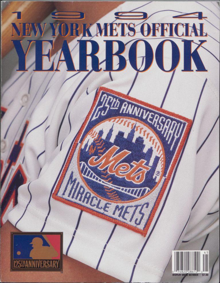1994 Mets Yearbook Commemorating Miracle Mets