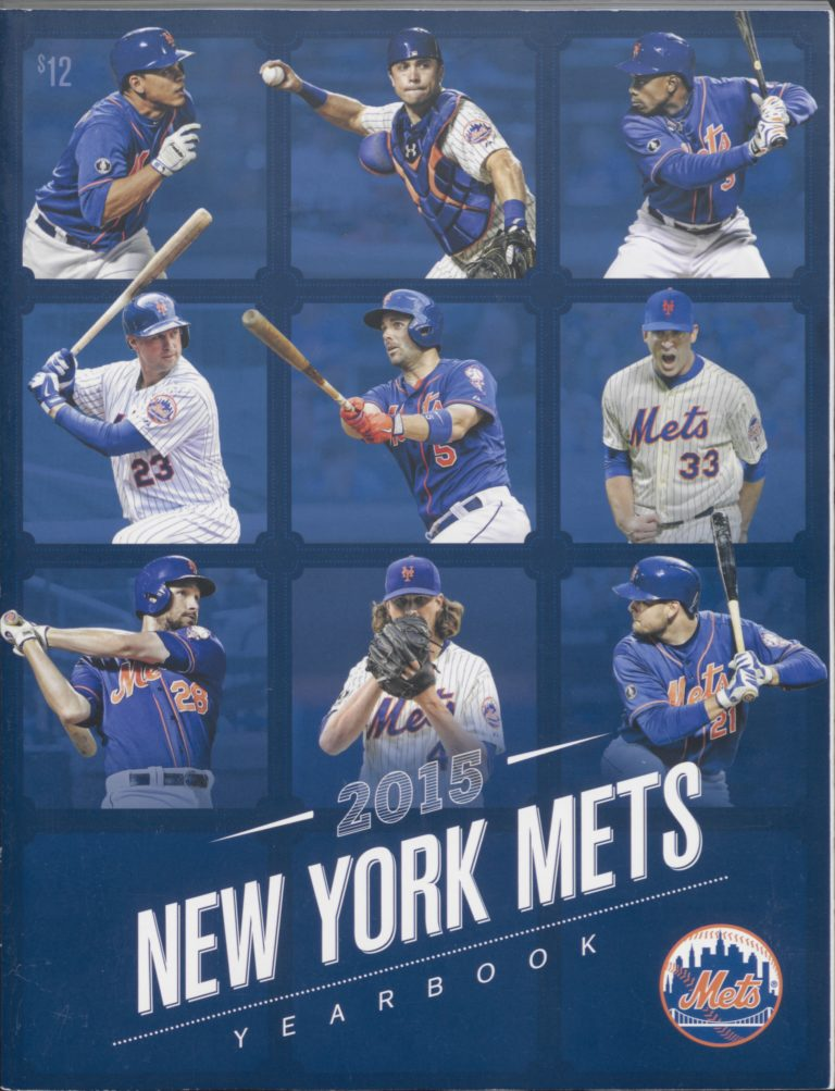 2015 Mets Yearbook Featuring 9 Players on Cover