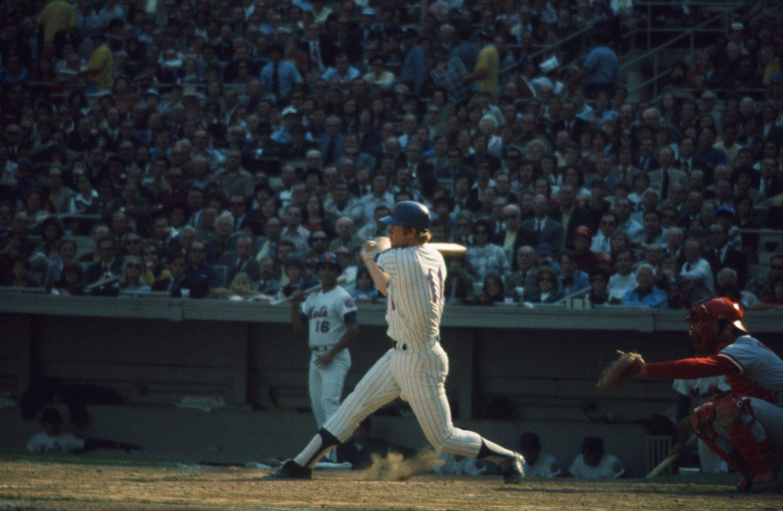 Wayne Garrett Swings Bat in 1973 NLCS