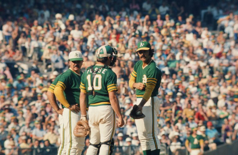 Oakland Athletics Chat During 1973 World Series