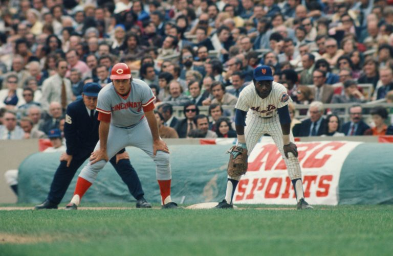 Milner at First Base in 1973 NLCS
