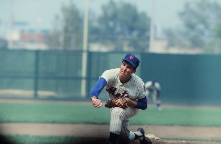 Jim McAndrew Throwing a Pitch in 1969