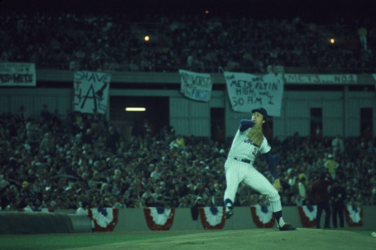 Mets Fan Banners During 1973 World Series