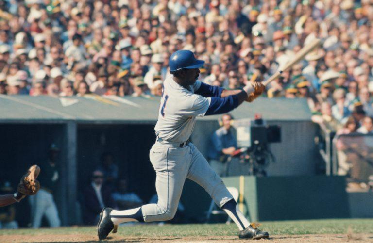 Cleon Jones Takes a Swing in 1973 World Series