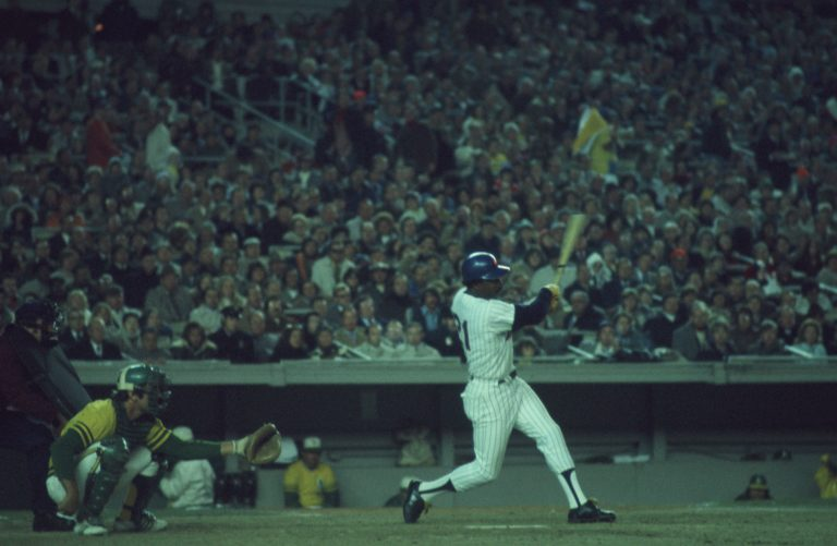 Cleon Jones Hits Double in 1973 World Series