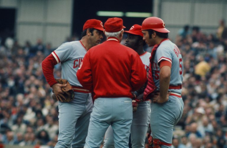 Sparky Anderson Motivates Reds in 1973 NLCS