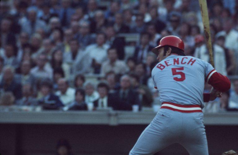 Photo of Johnny Bench At Bat