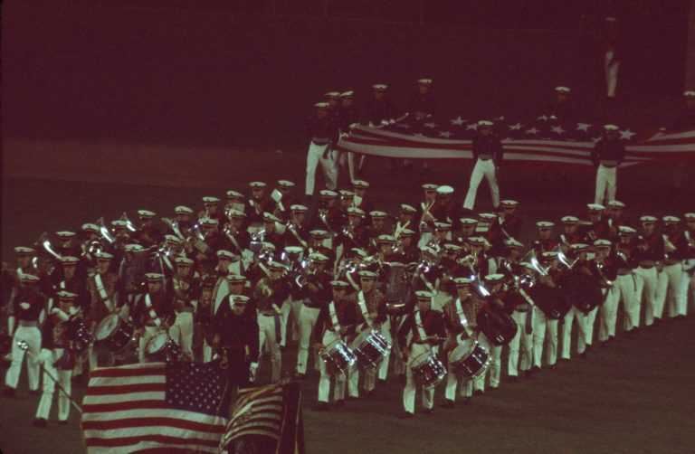 Marching Band Performance at 1973 World Series
