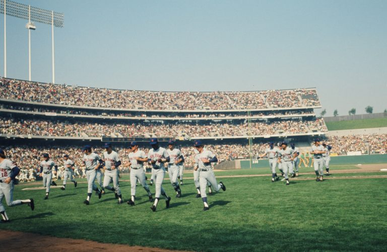 Mets Leave the Field in 1973 World Series