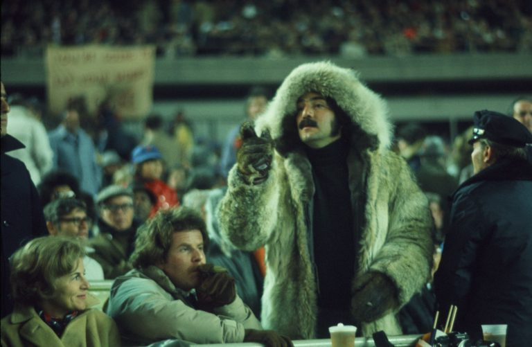 Mets Fans Dress for Cold Weather in 1973 World Series