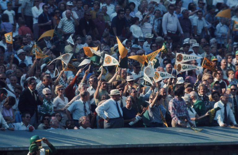 Oakland A's Fans Wave Pennants in 1973 World Series