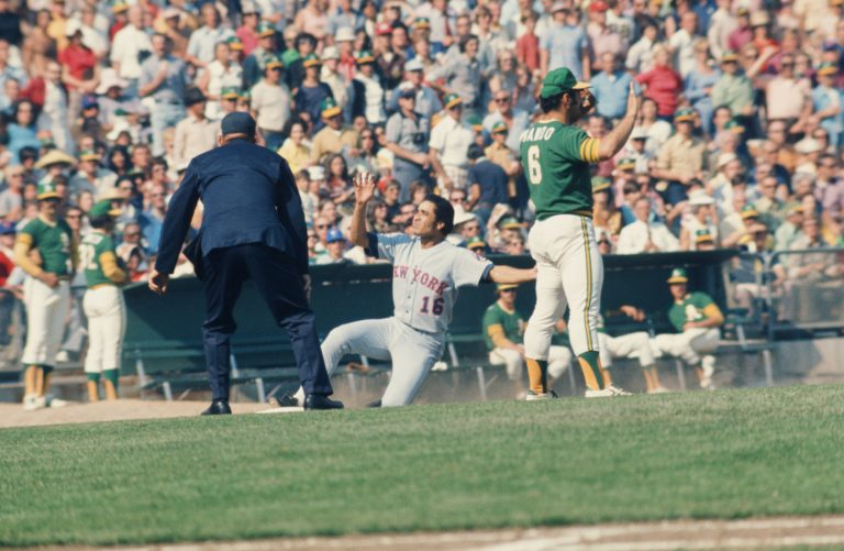Felix Milan Makes Appeal to Ump in 1973 World Series