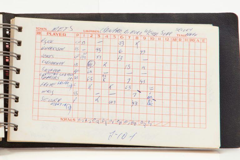 Scorecard for Game 4 of 1969 World Series