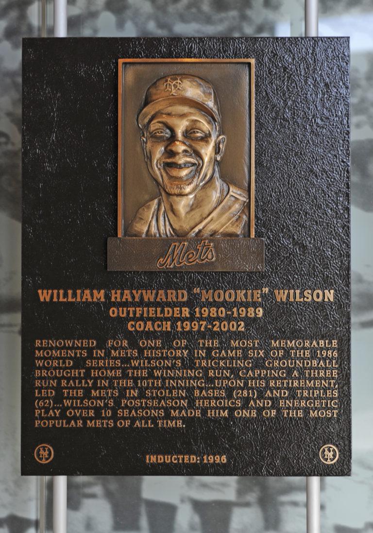 Mookie Wilson Mets Hall of Fame Plaque