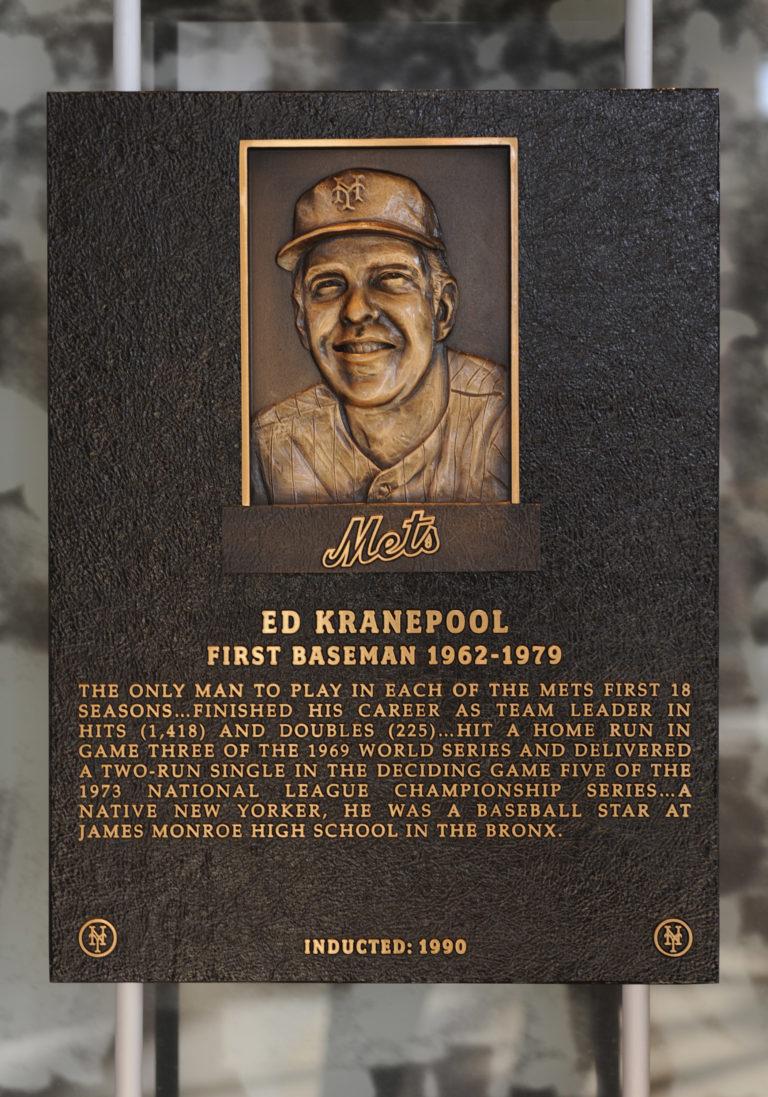 Ed Kranepool Mets Hall of Fame Plaque