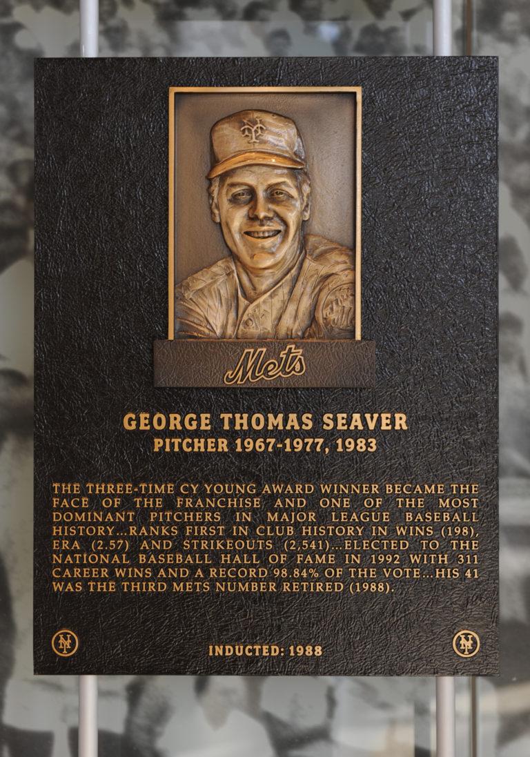 Tom Seaver Mets Hall of Fame Plaque