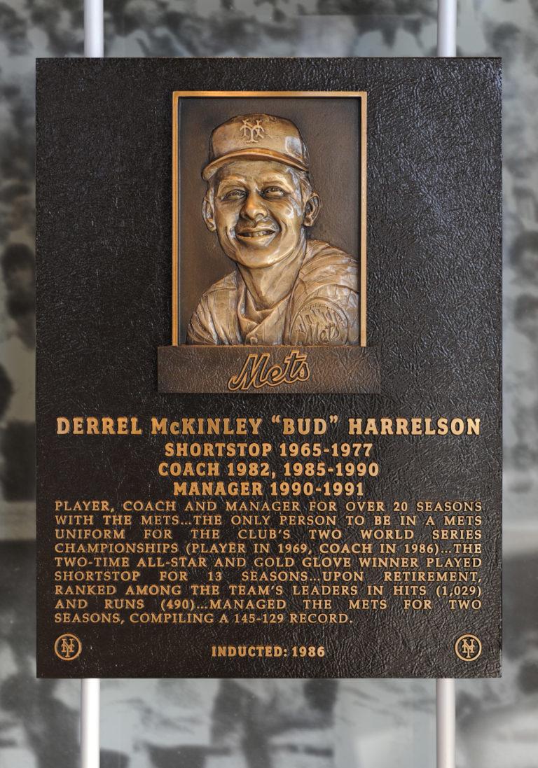 Bud Harrelson Mets Hall of Fame Plaque