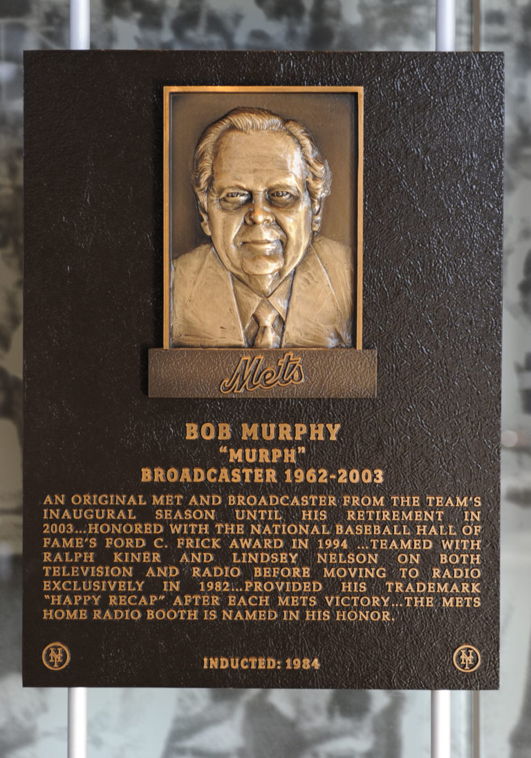 Bob Murphy Mets Hall of Fame Plaque