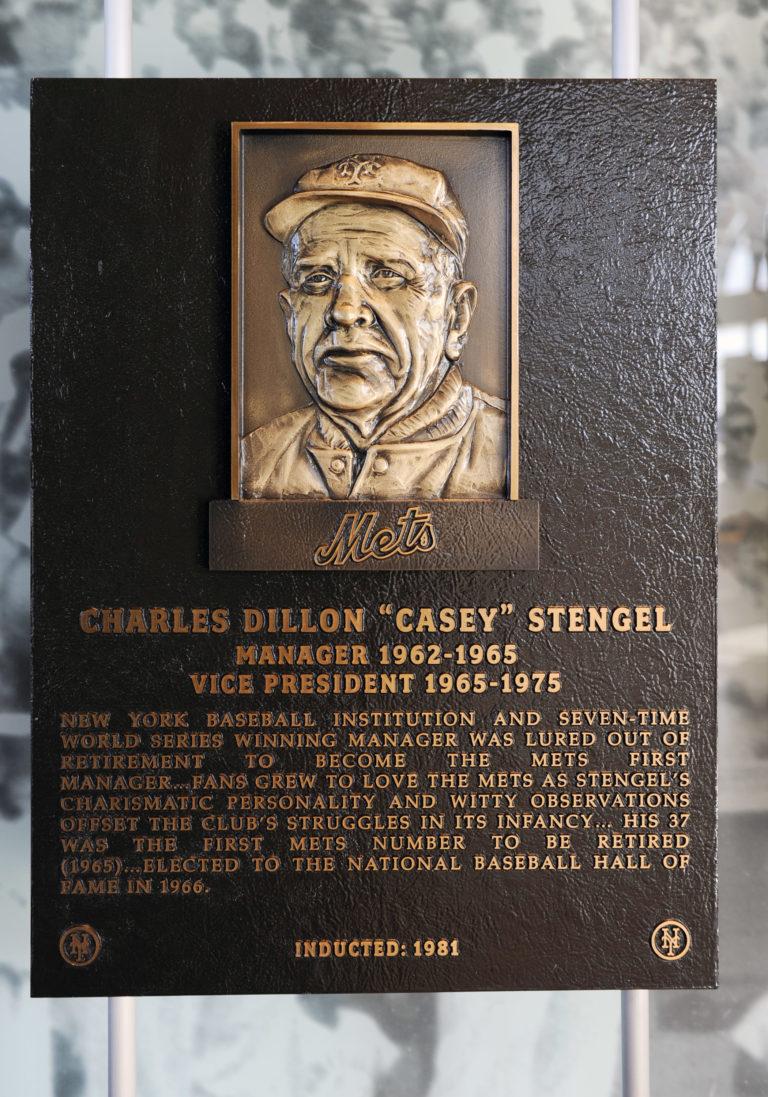 Casey Stengel Mets Hall of Fame Plaque