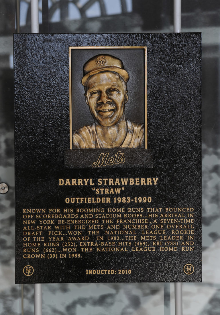 Darryl Strawberry Mets Hall of Fame Plaque