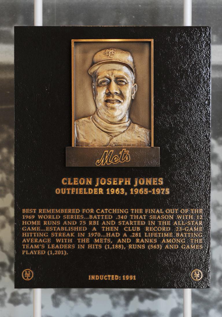 Cleon Jones Mets Hall of Fame Plaque