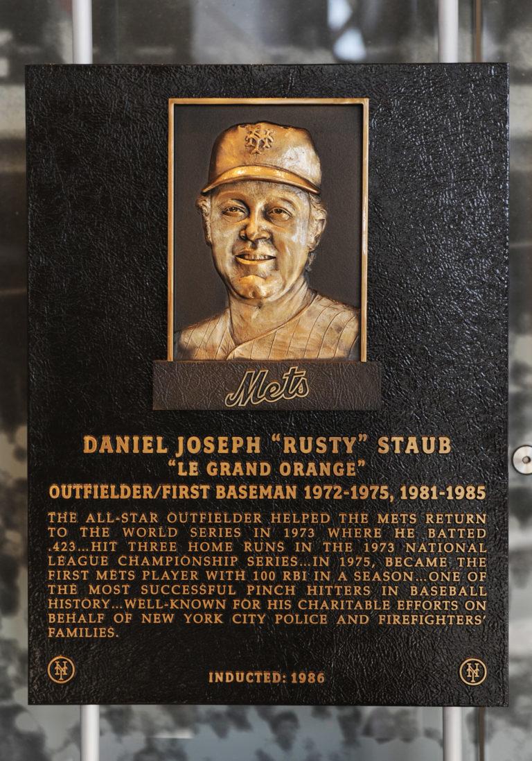 Rusty Staub Mets Hall of Fame Plaque